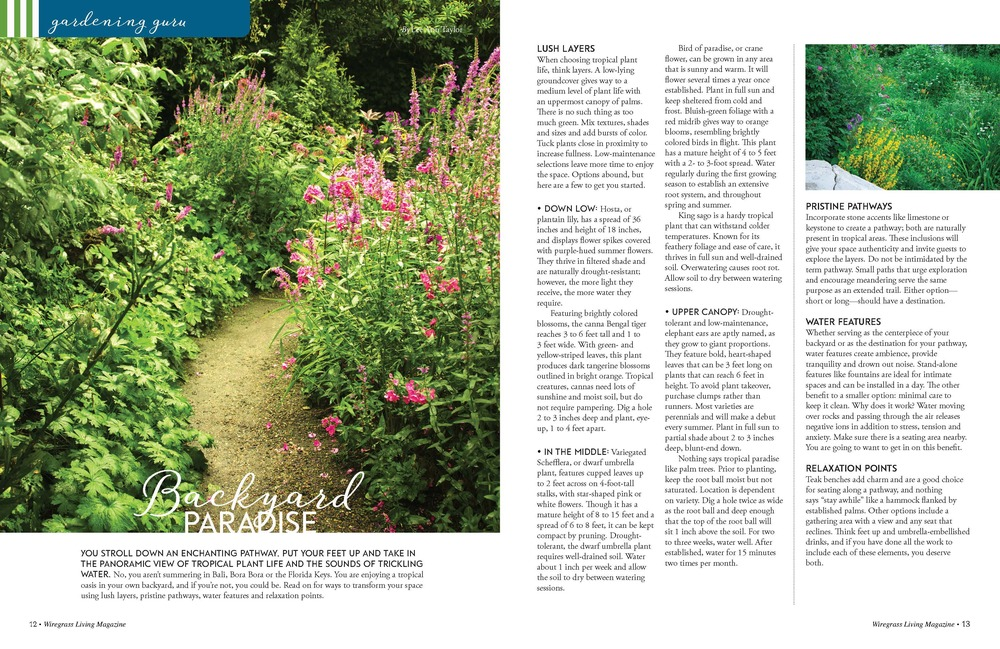 Gardening Guru,  Wiregrass Living Magazine , July/August 2016