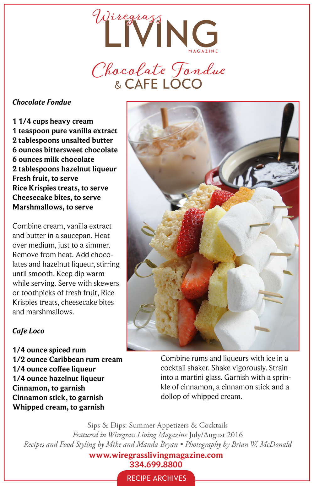 Chocolate Fondue, Wiregrass Living Magazine