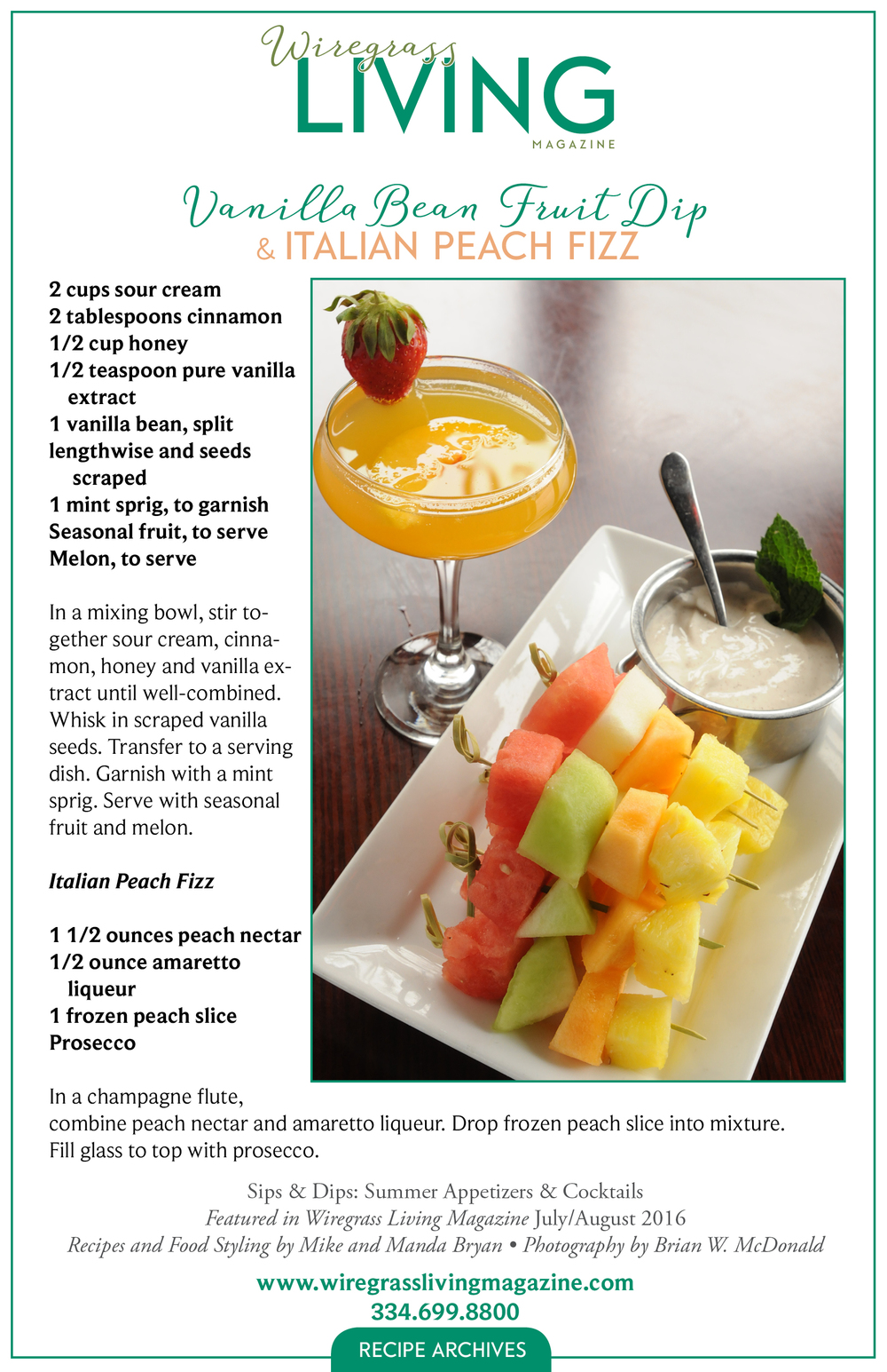 Vanilla Bean Fruit Dip, Wiregrass Living Magazine