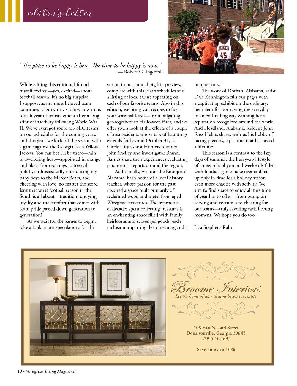 Editor's Letter  September/October 2016