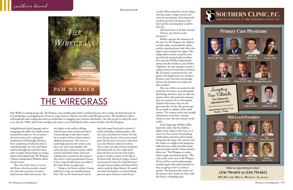 September/October 2016 The Wiregrass by Pam Webber Reviewed by Amanda Smith