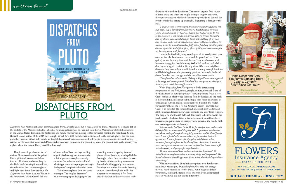 November/December 2016 Dispatches From Pluto by Richard Grant Reviewed by Amanda Smith