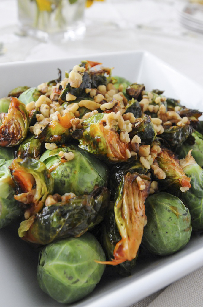 Sweet & Spicy Fried Brussels Sprouts