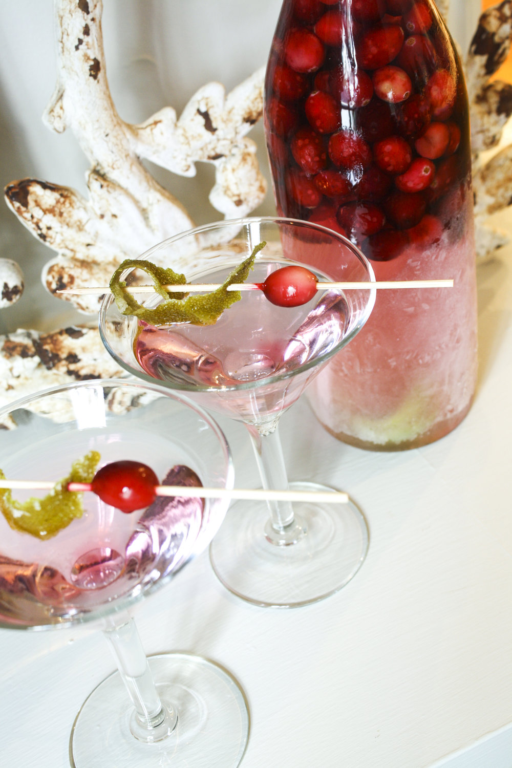 Cranberry-Lime Martinis