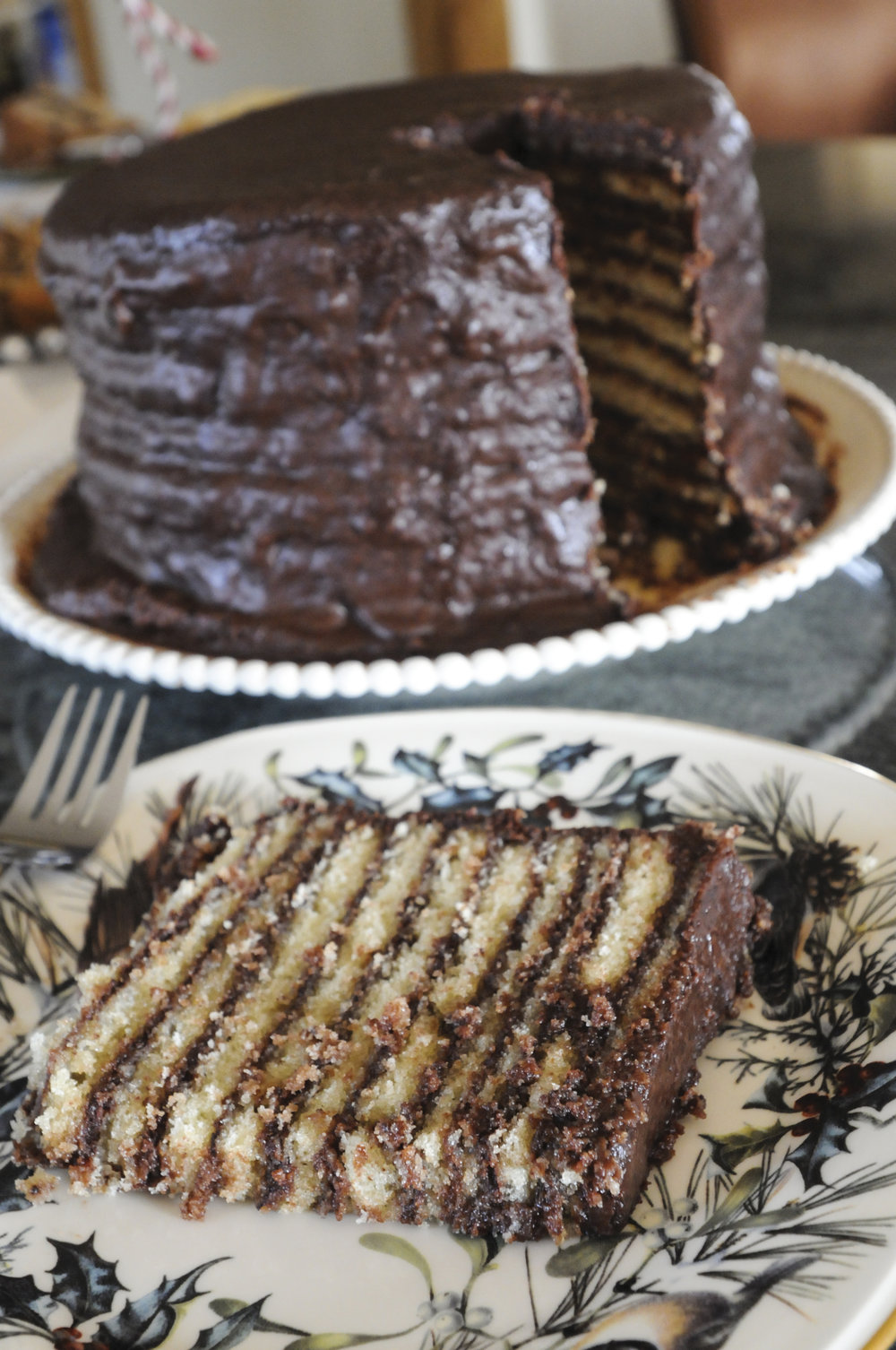 14-Layer Chocolate Cake