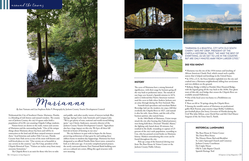 Around The Towns,  Wiregrass Living Magazine , January/February 2017