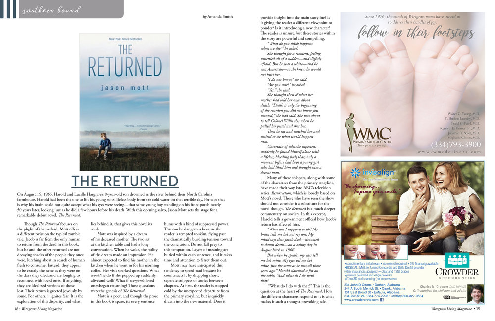 January/February 2017    The Returned    by Jason Mott   Reviewed by Amanda Smith