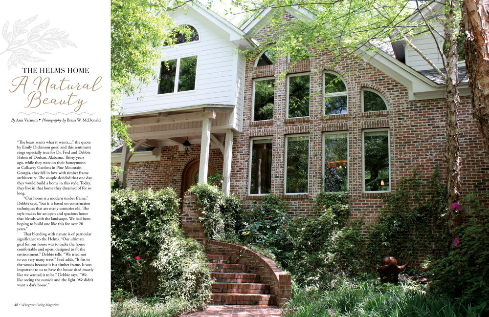 The Helms Home, Wiregrass Living Magazine, Mar/Apr 2017