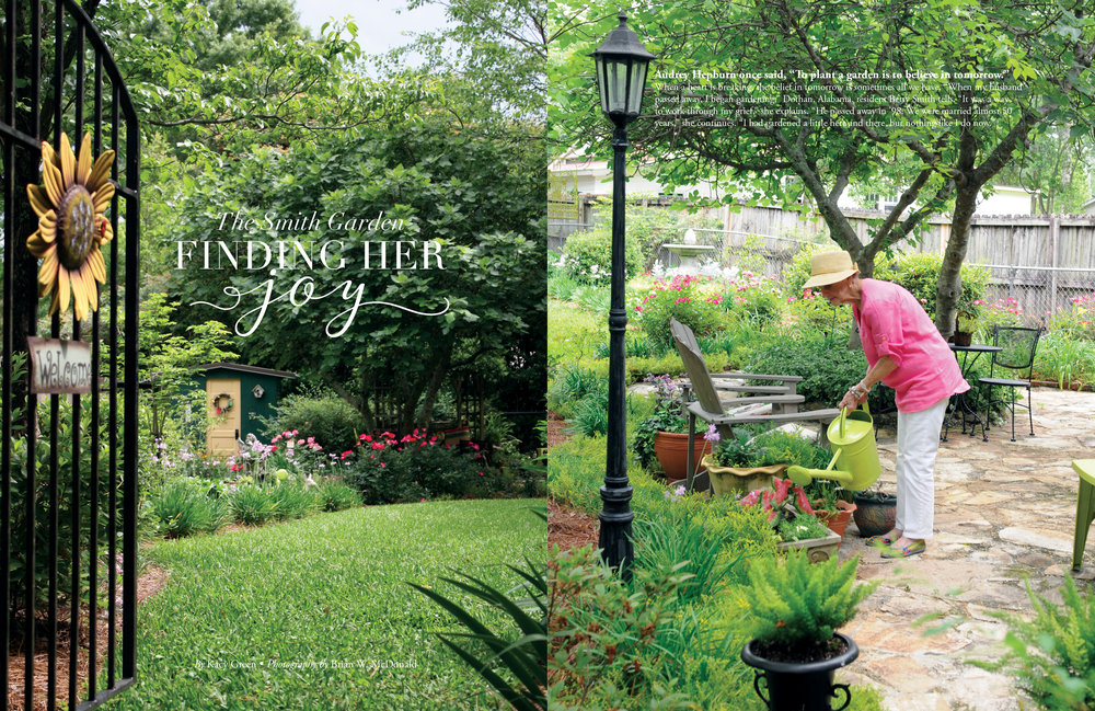 The Smith Garden, Wiregrass Living Magazine, March/April 2017