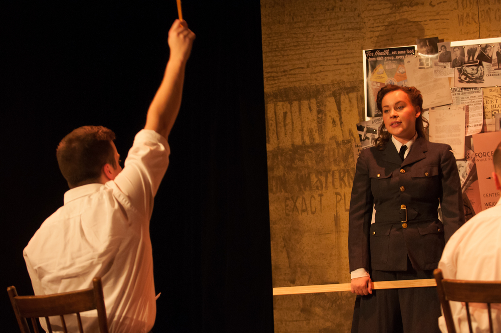 Mathew Hulshof (left) and Justine Westby (right) in That Men May Fly 2013