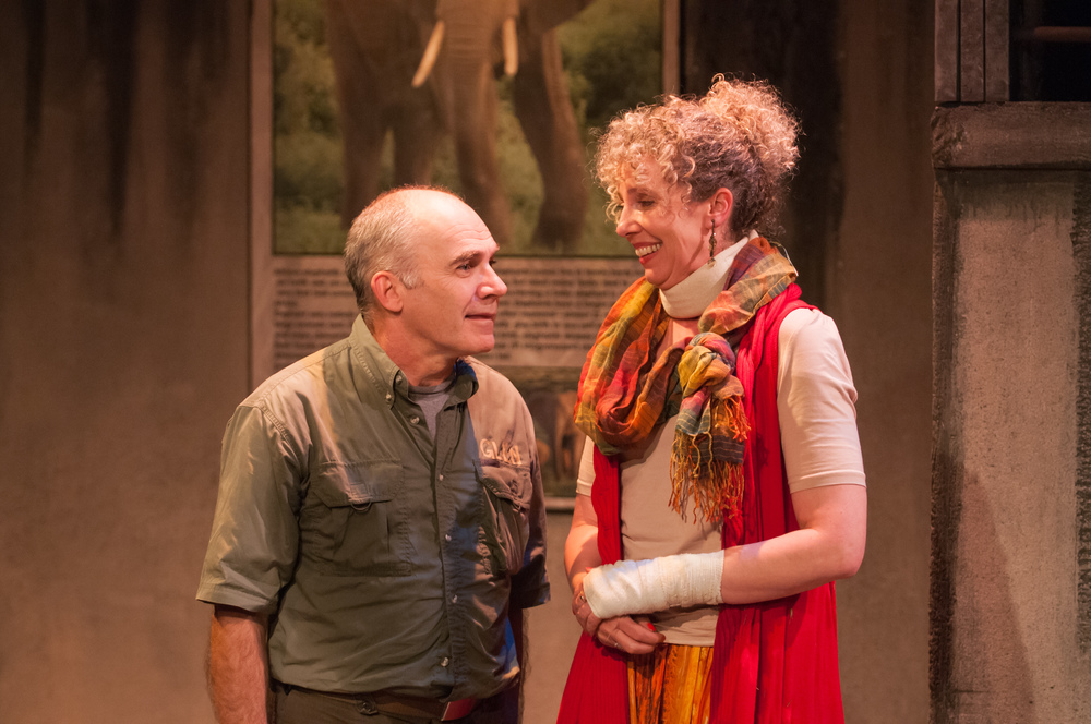 David LeReaney and Barbara Gates Wilson in The Life History of the African Elephant at Lunchbox Theatre, 2014/2015 season. Photo by Benjamin Laird