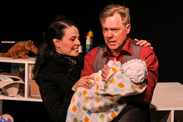 Vanessa Sabourin and Doug McKeag in Dads in Bondage. Photo by Nicole Zylstra