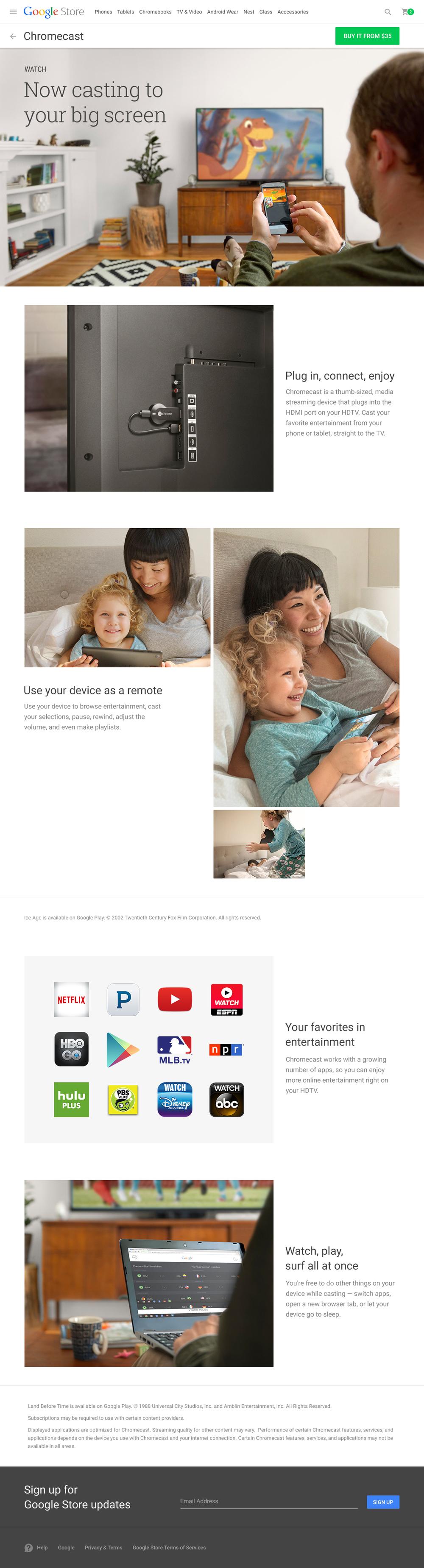 Chromecast Platform Story