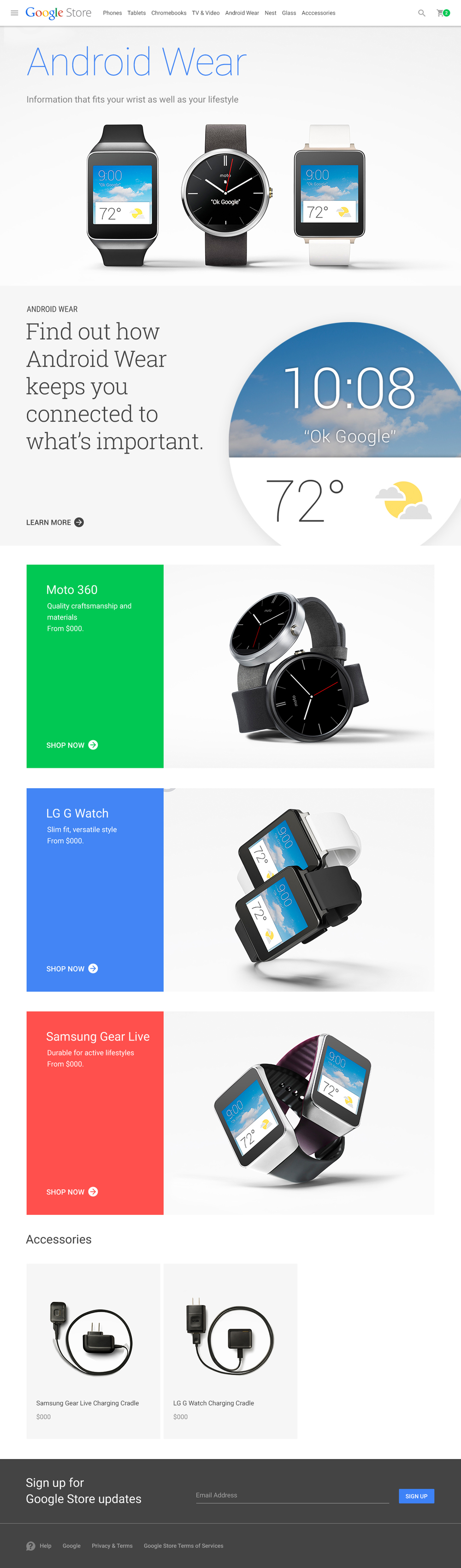Android Wear Category Page