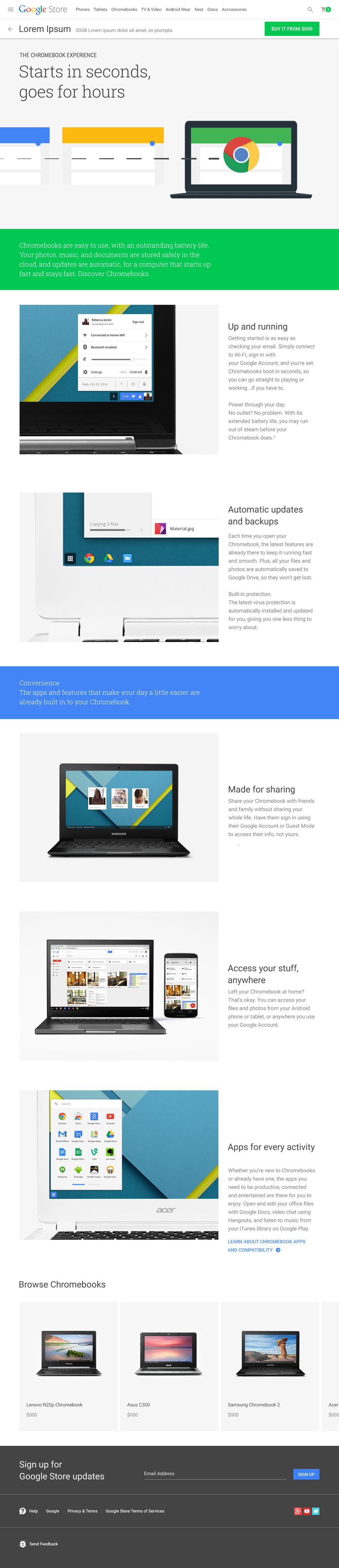 Chromebook Platform Story