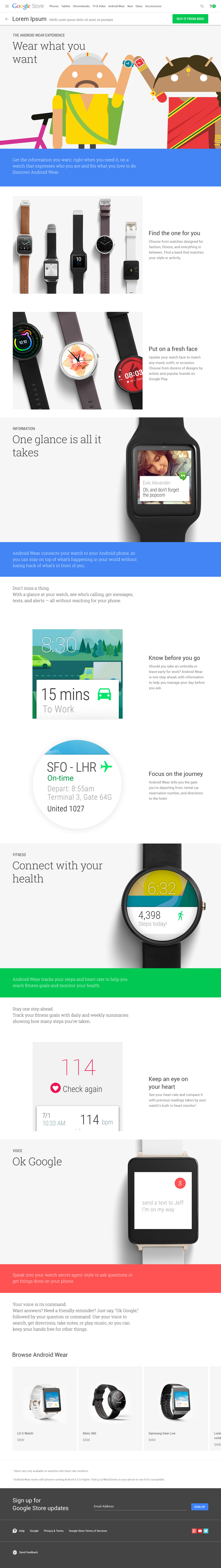 Android Wear Platform Story