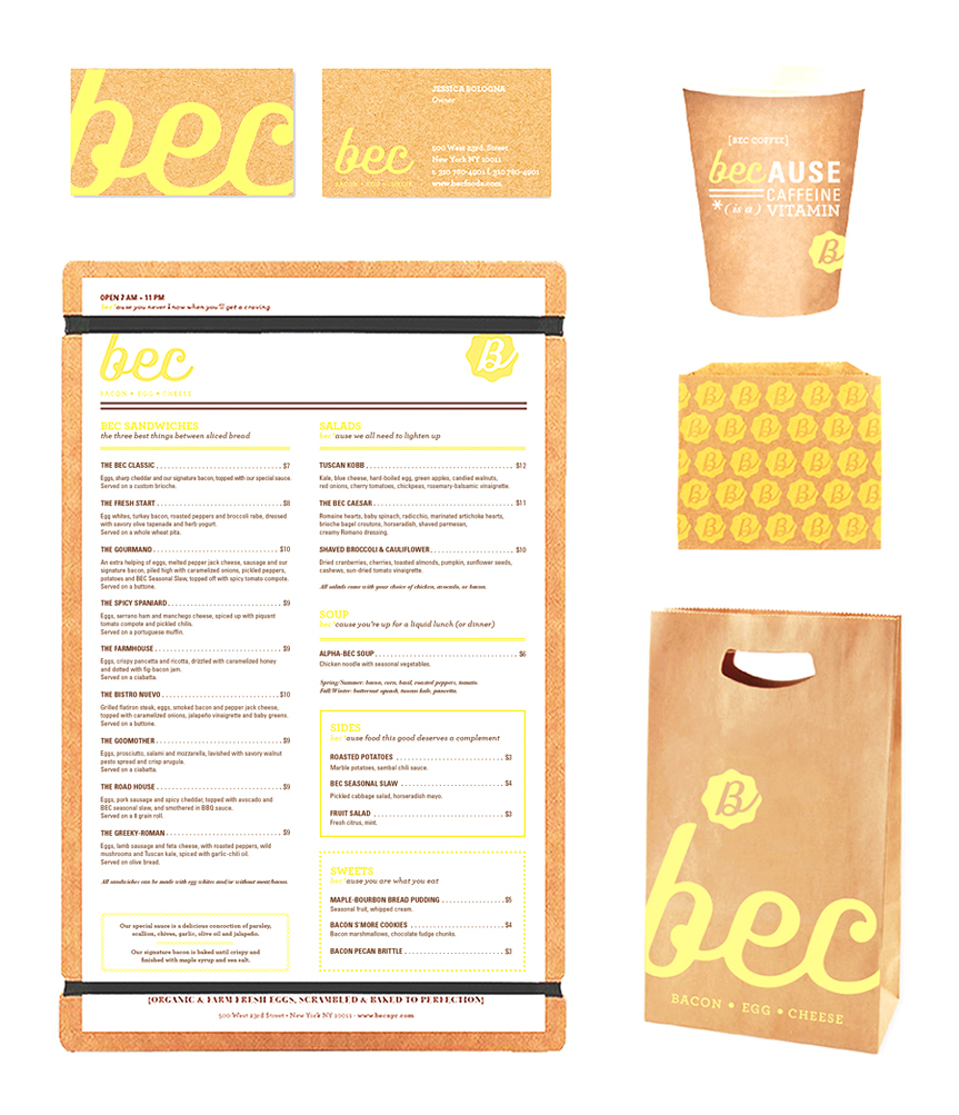 Packaging and Menu