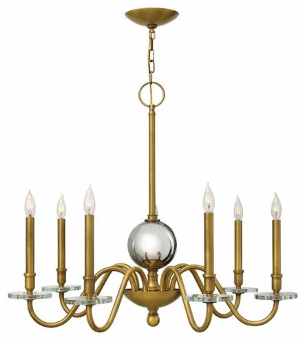 The Pretty Lady  For all lovers of tradition, this chandelier stays true to traditional roots. Its classic shape and simplicity would look amazing over your formal dining room table.