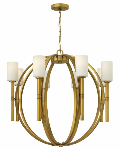"The Trend Setter  This fixture is perfect when trying to kill two trends with one stone. The sphere style chandeliers has been up and coming for a few years. Select this fixture in gold and your friends may start calling you the ""Trend Setter""."