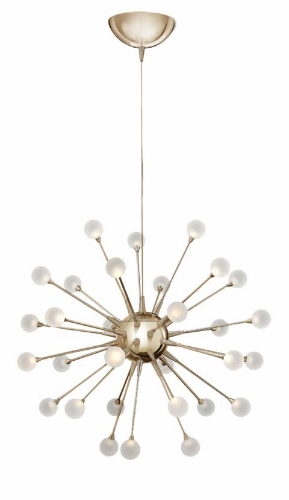 The Mad Man  With mid-century modern becoming more popular in home decor, how can I not feature a lighting fixture that is Mad Men inspired? This sputnik chandelier in polished gold would look amazing in any mid-century modern inspired home. Hang two over a long rectangular table for a unique look.
