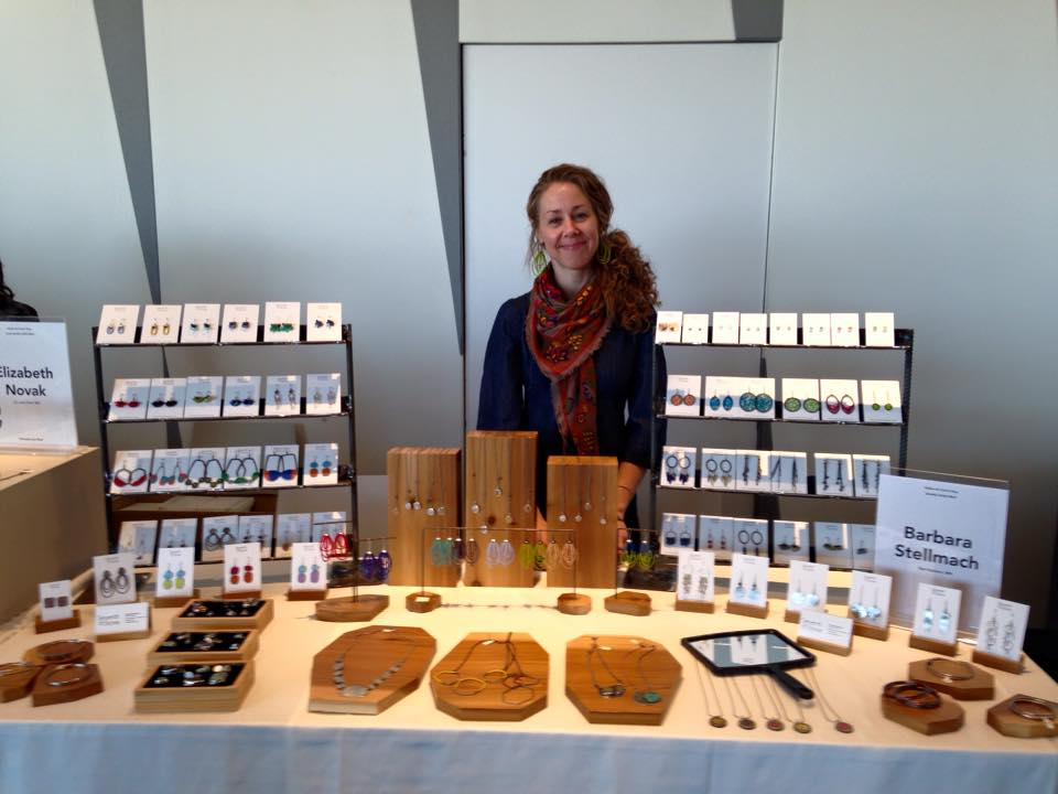 photo of me at last fall's Jewelry Artist Mart