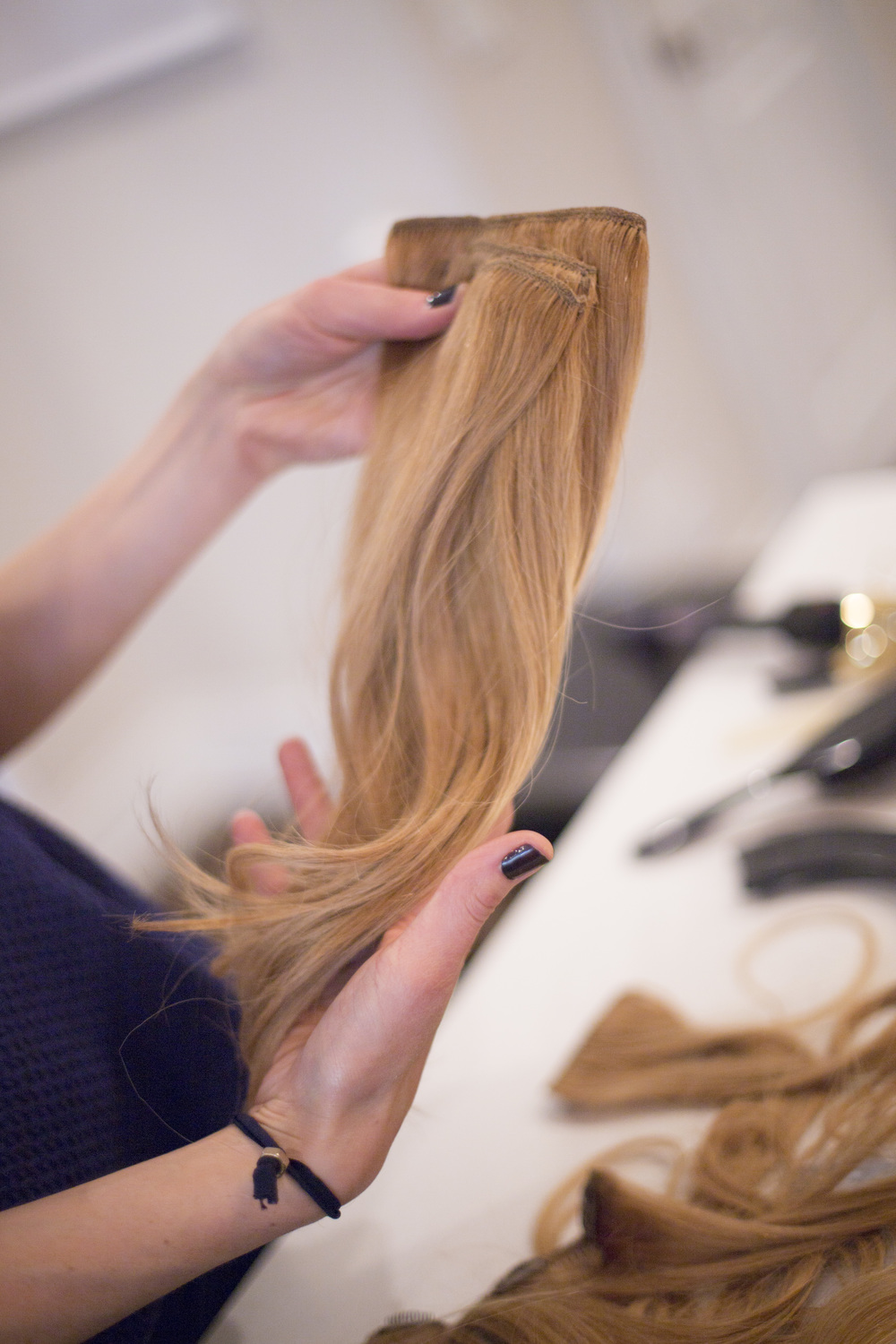 for super thick locks or ponies, clip smaller pieces together before using.