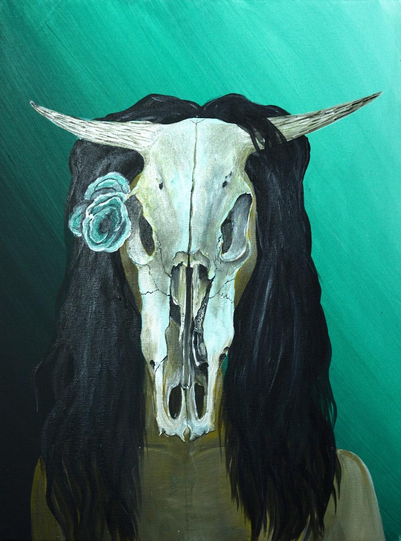 Cow Skull Self Portrait .jpg