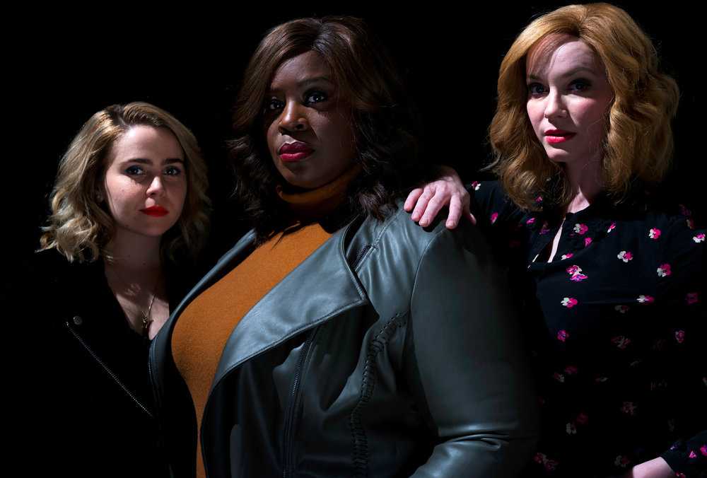 Good Girls cast, Mae Whitman, Retta, and Christina Hendricks for  The New York Times