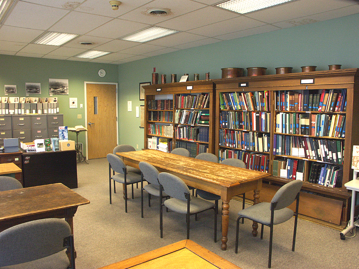 The library at the History Center.