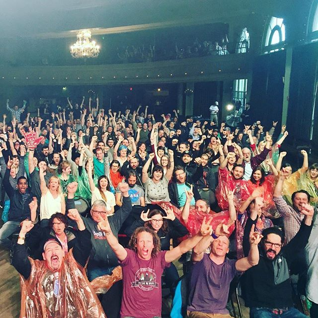 Hey Portland! U rock! 🤘🏽💕@crystalballroom
