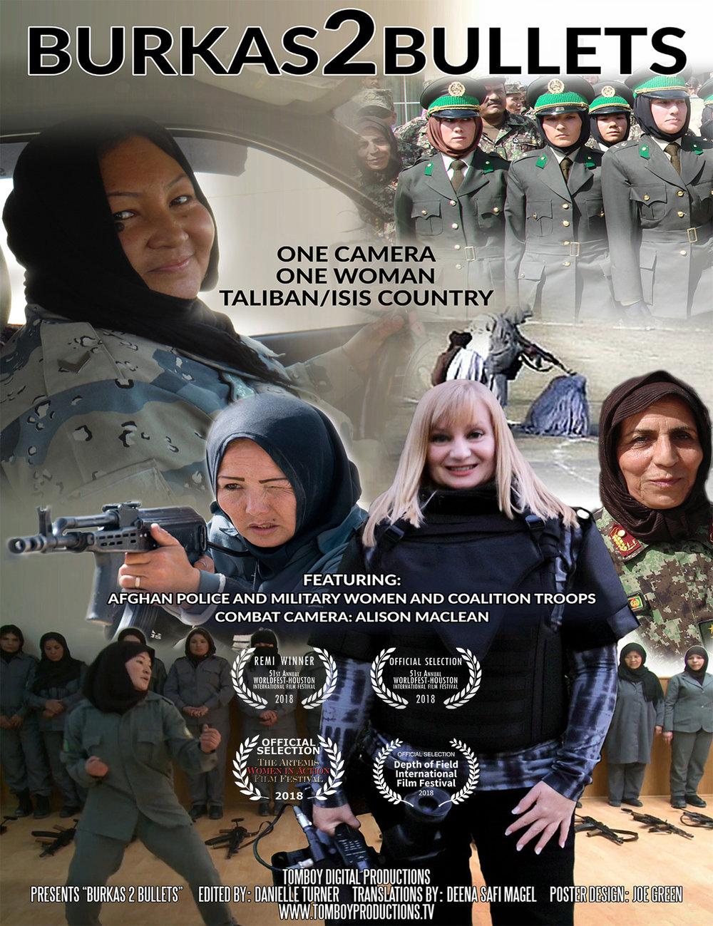 Burkas2Bullets Global Release 2019.  https://vimeo.com/272605600
