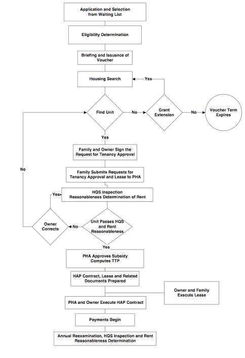 Diagram of HCVP Application Process