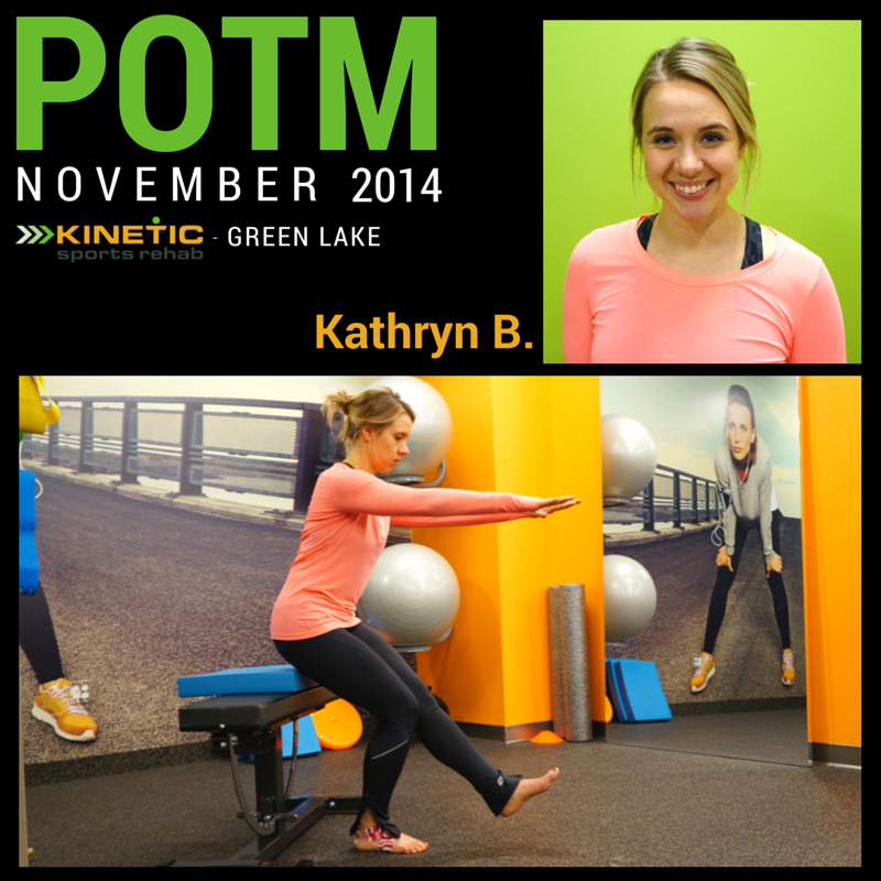 Kinetic Sports Rehab - Green Lake POTM - Nov 2014
