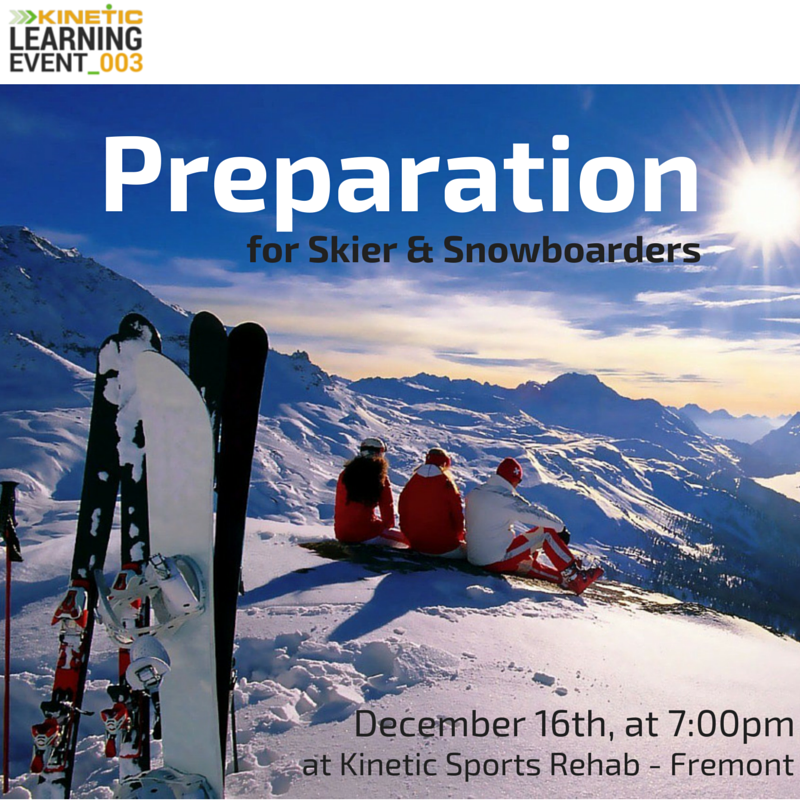 Kinetic Learning Event_003 - Preparation for Skiers & Snowboarders