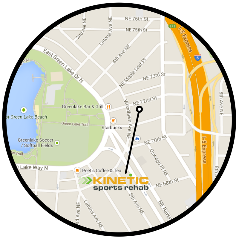 map of kinetic sports rehabs green lake clinic in seattle