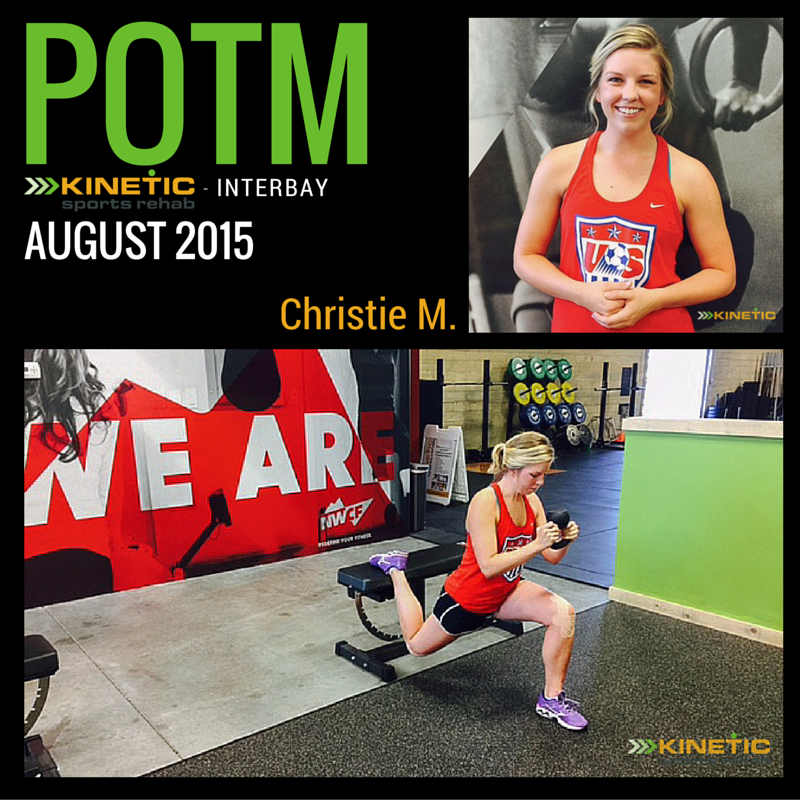 kinetic sports rehab - interbay - patient of the month