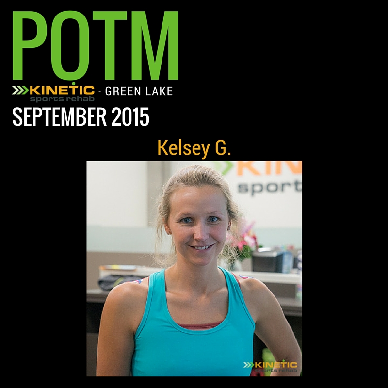 Kinetic Sports Rehab - Green Lake POTM Sept 2015