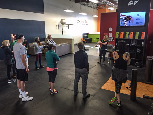 Dr. Lisa did an awesome job leading the education part of the clinic. She discussed the anatomy of the shoulder the how connected the body needs to be to allow for a fluid, efficient movement (I.e.   Pull  -  Up  ).