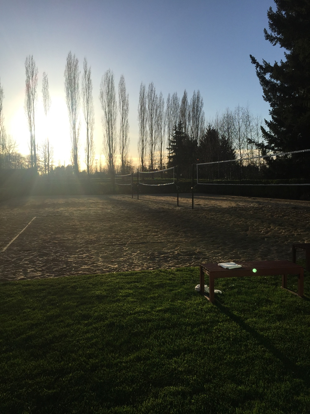 The volleyball courts at Nike Headquarters in Beaverton, OR