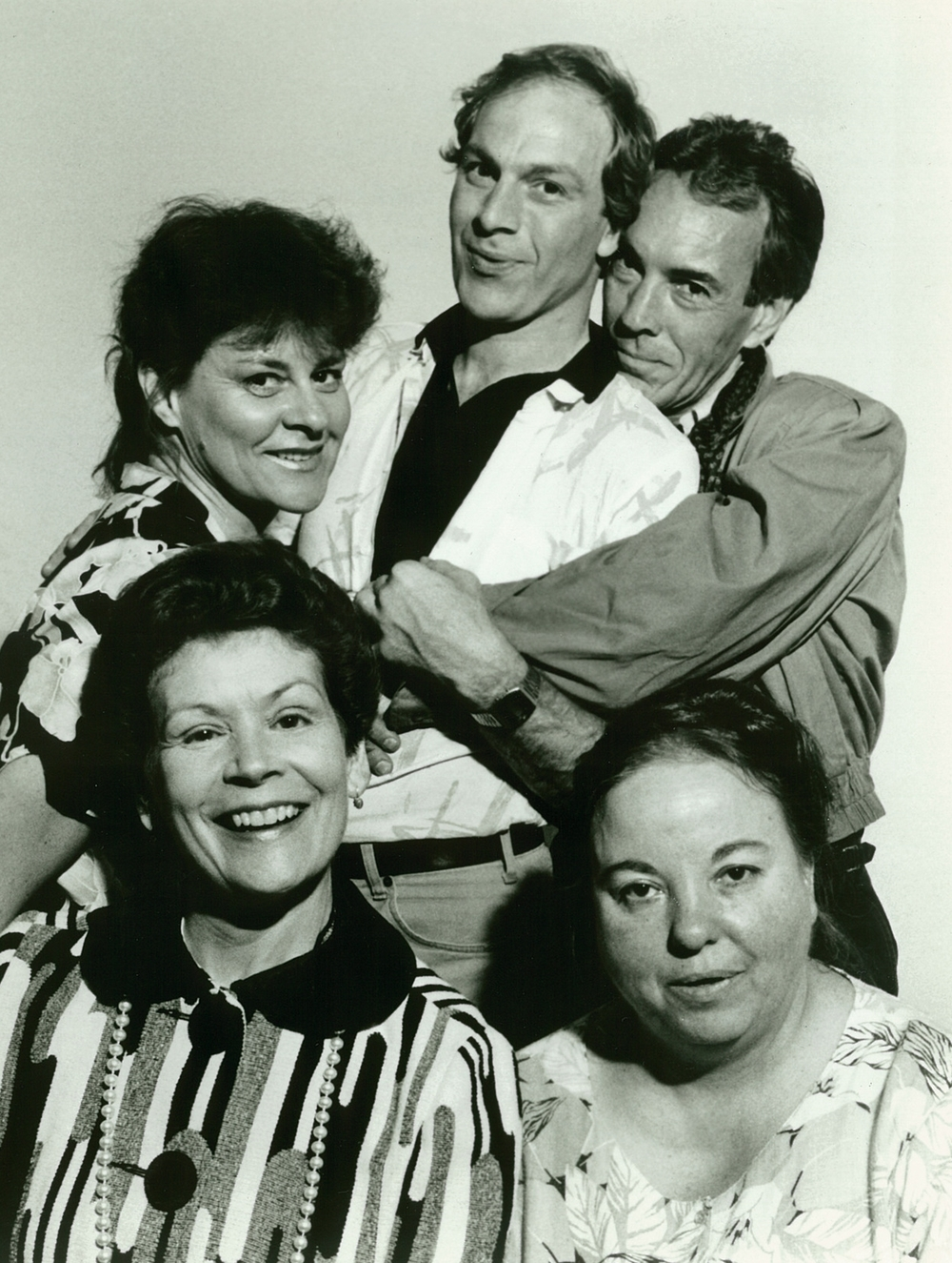 The cast of  Blood : Susan Jones Manino, Craig Michael Lewis, Hue Sabri, Katherine Shepard, Fredda Hardy