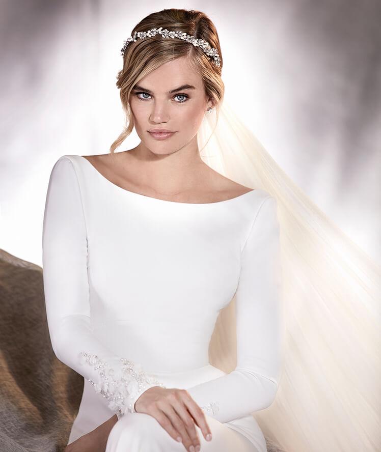 "1d6128216eb Geny s Bridal Fashion Tip of the Week - PRONOVIAS ""ALANA"" — Geny s ..."