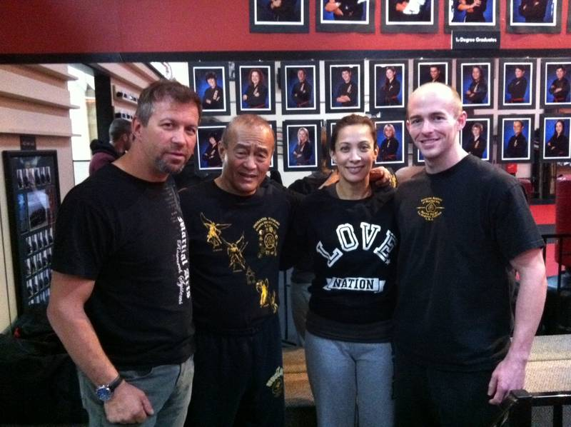 Sifu Ron Balicki, Guro Dan Inosanto, Diana Lee Inosanto, and David Quigley
