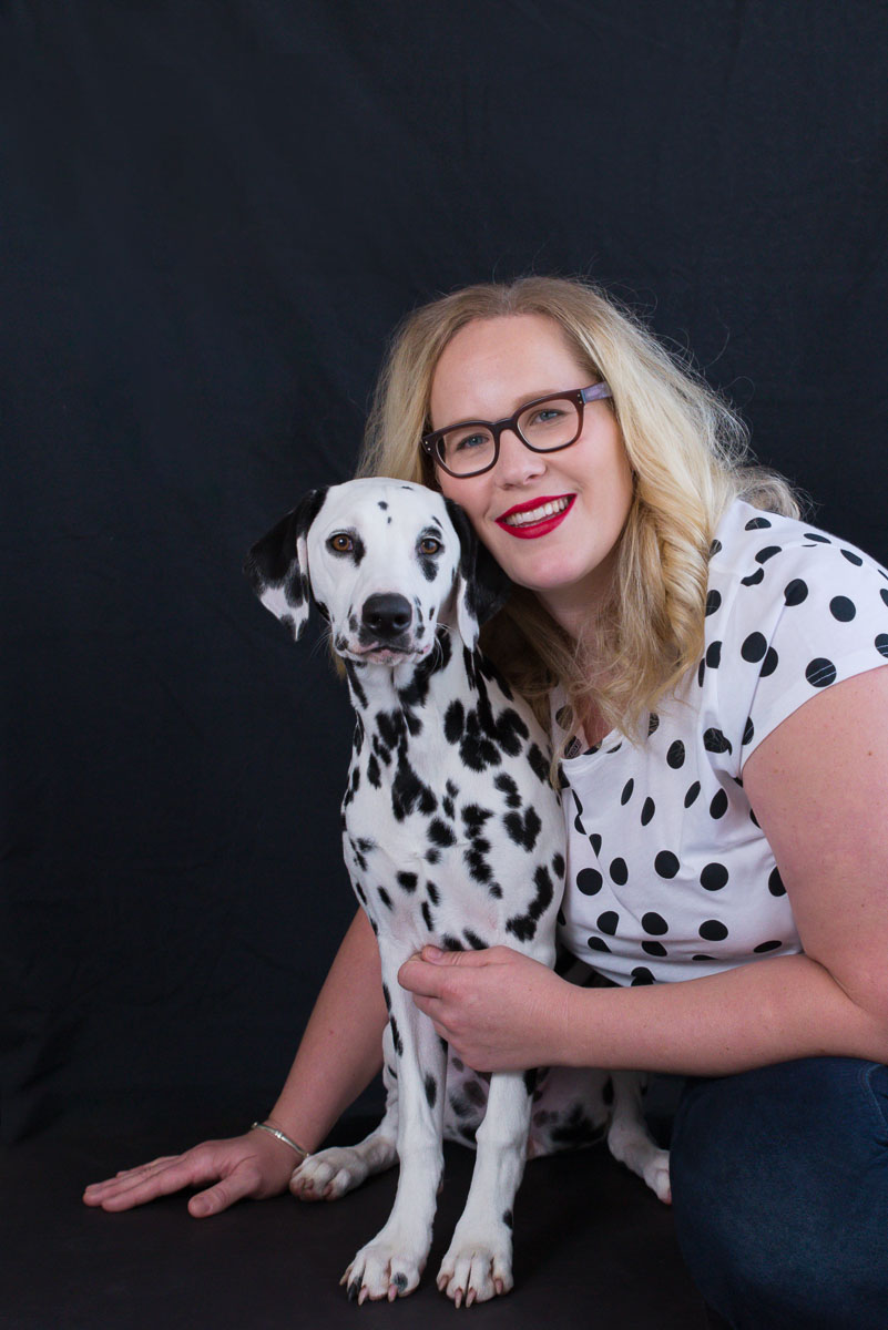 lady with dog photoshoot
