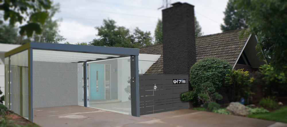 A CARPORT WITH TRANSLUCENT TEMPERED GLASS!