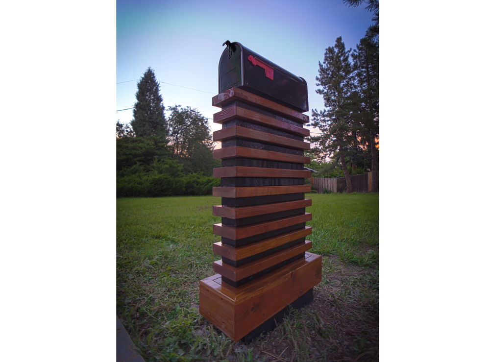 You say that you cannot take an average mailbox and make it look cool?  I say balderdash! The McFeely was a fun one off project.  This modern mailbox was constructed with leftovers from a project for an outstanding client.
