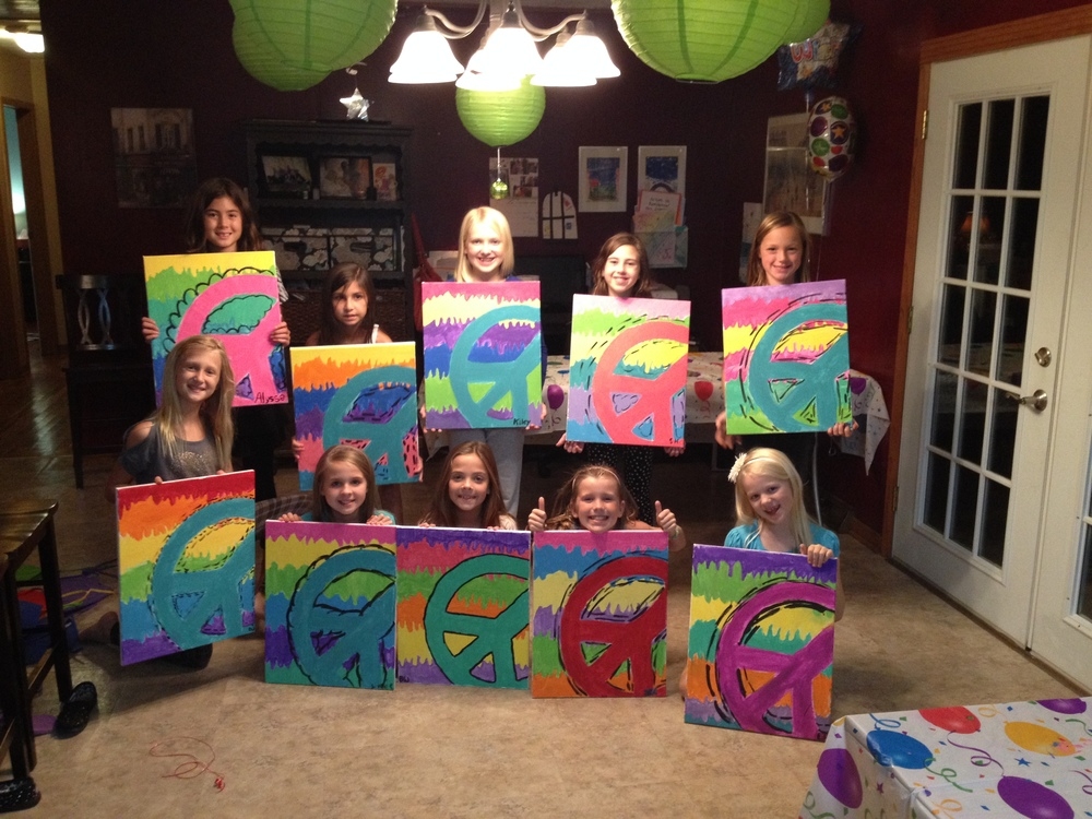My daughter Kiley's painting party.