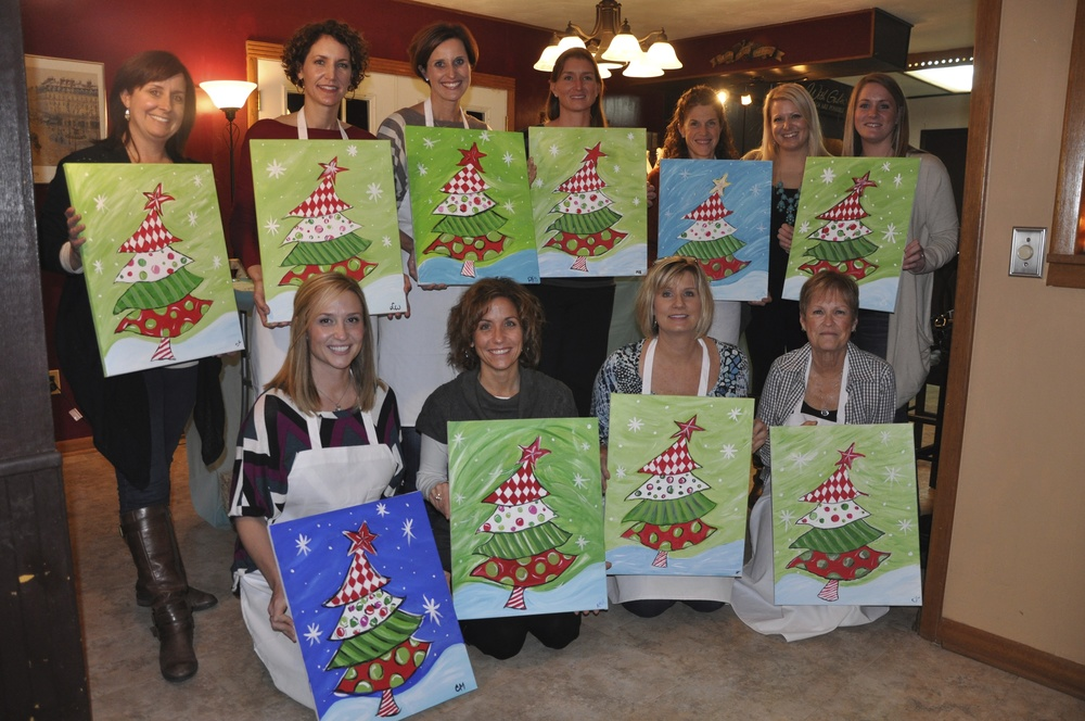 My first paint night with friends! The beginning of The Social Easel.