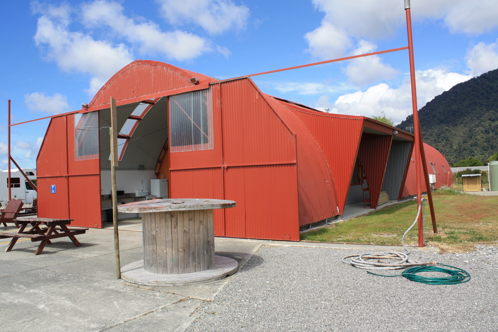 Haast Camper amentities building.JPG
