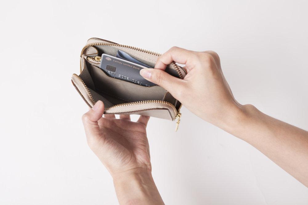 拉鏈隨手錢包 -
