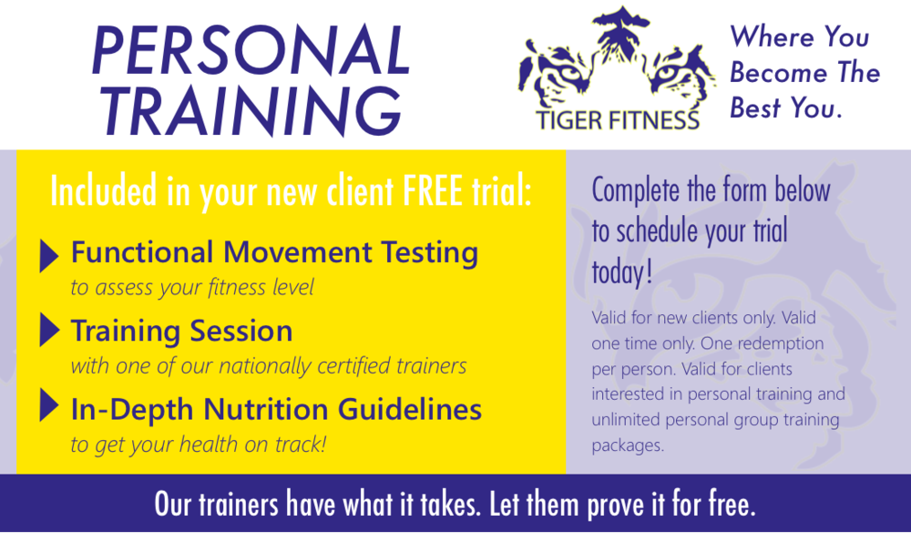 Tiger Fitness FREE Trial